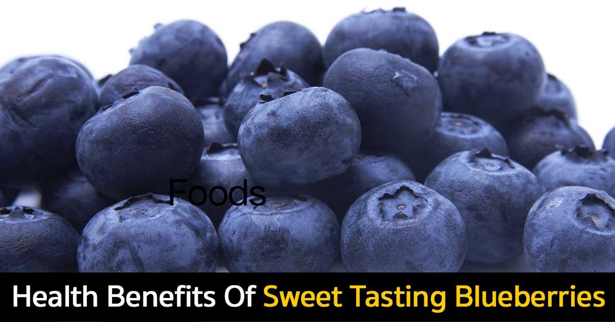 Health benefits of sweet tasting blueberries