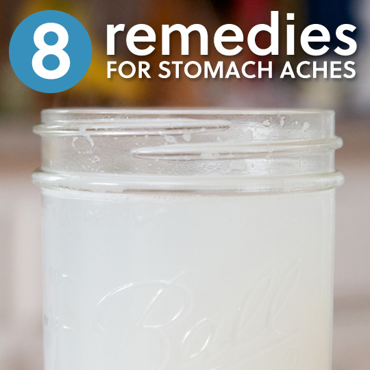 how to stop a stomach ache naturally